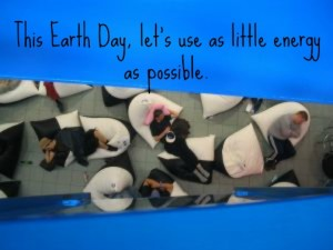 Conserving energy on Earth Day